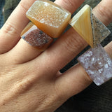 Callahan Carved Druzy Ring