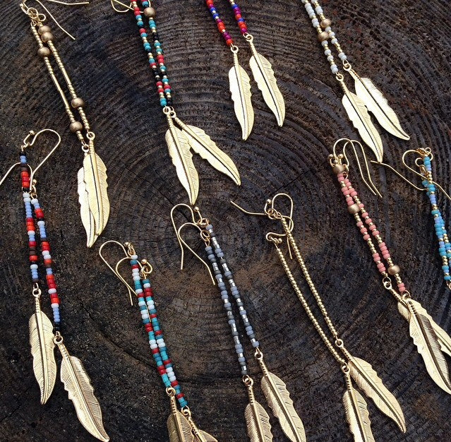 Finley Feather Earrings