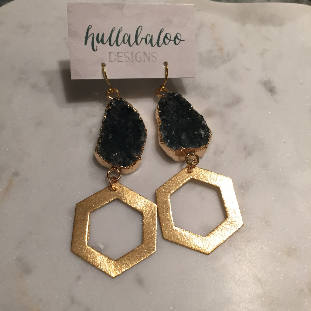 Hexley Druzy Earrings