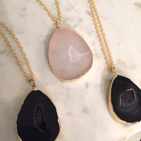 Luna Druzy Necklace
