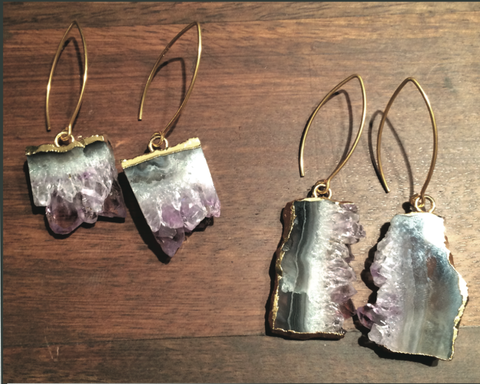 Addie Amethyst Earrings