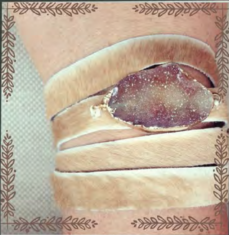 Callie Calf and Druzy Wrap