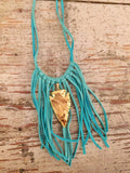 Farrah Fringe and Arrowhead Necklace