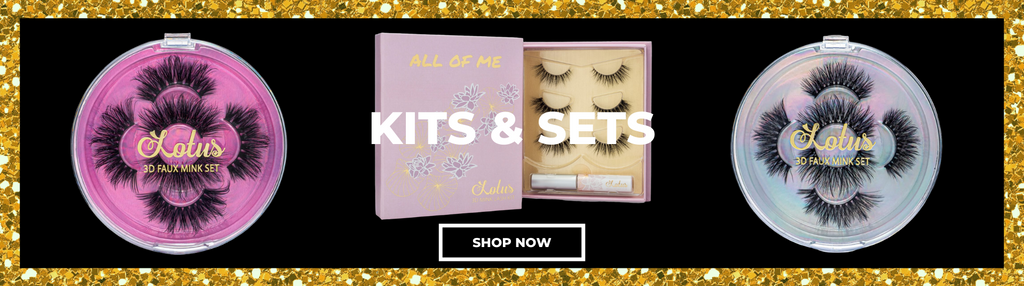 lotus lashes mink lash kits and sets faux mink lashes false eyelashes