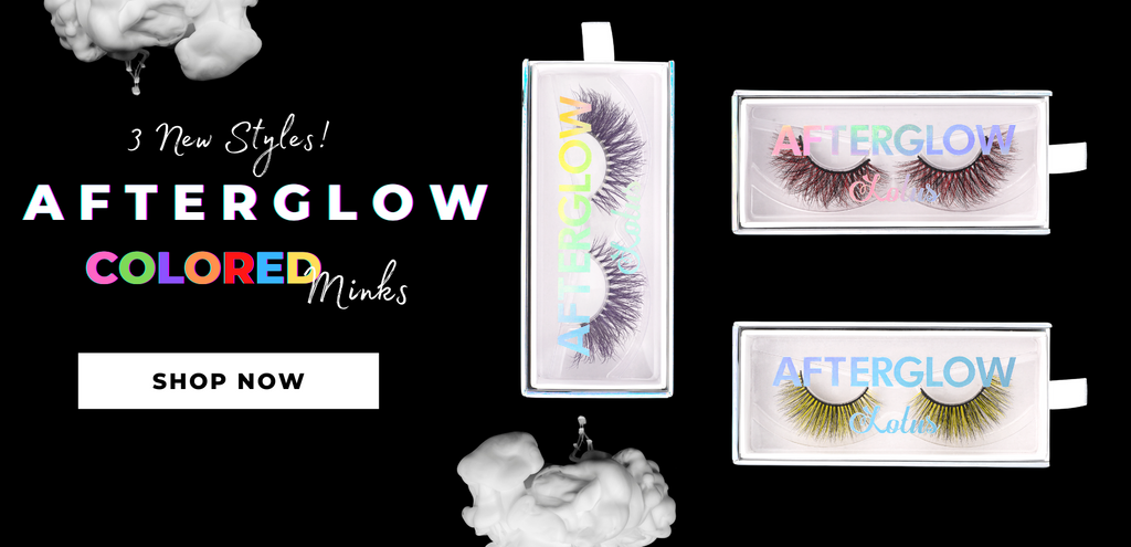 afterglow colored mink lashes false eyelashes lotus lashes