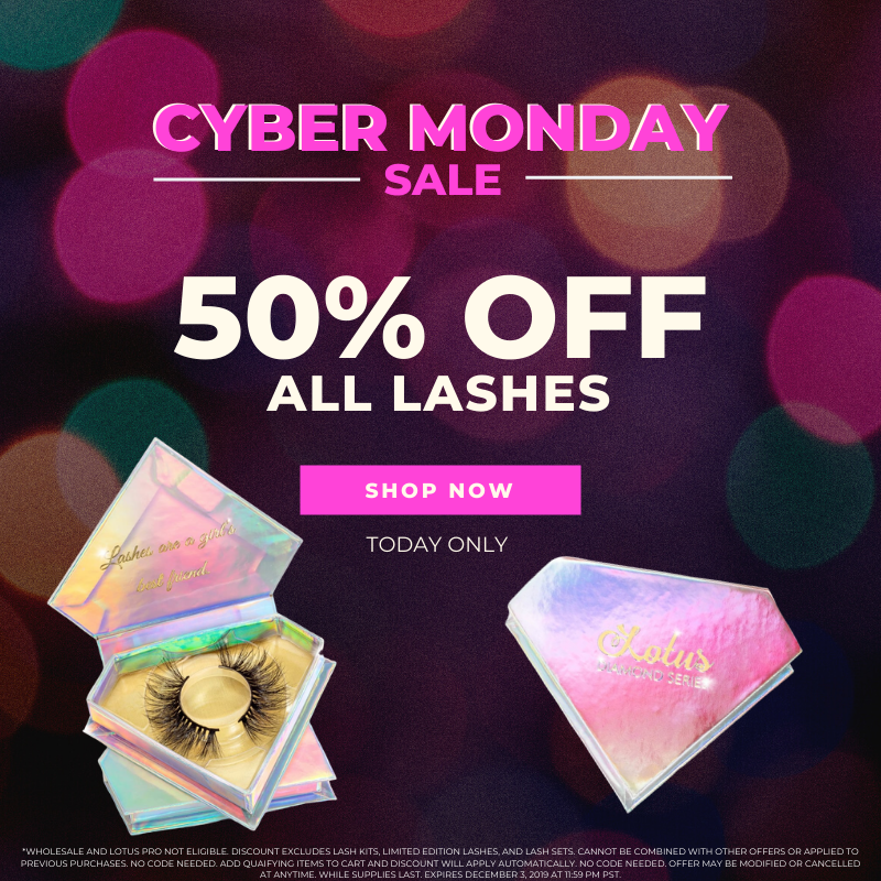 cyber monday sale lotus lashes mink lashes faux mink lashes false eyelashes