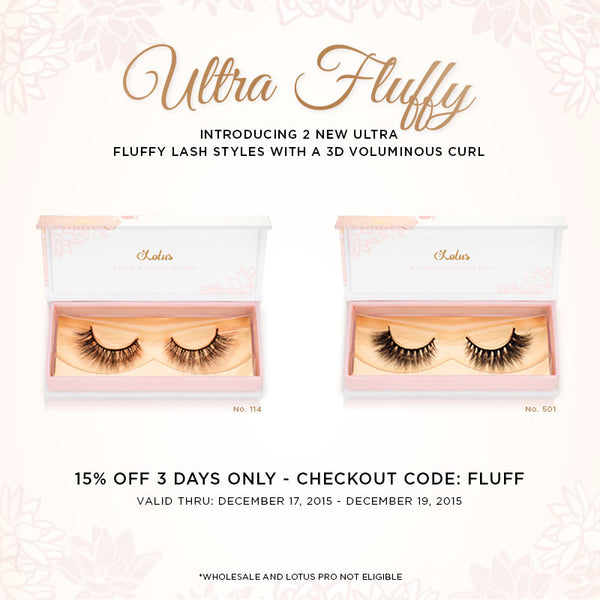 Ultra Fluffy Lash Styles Lotus Lashes new