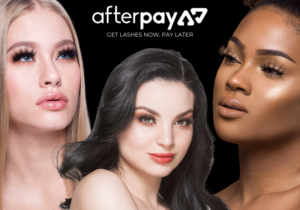 lotus x afterpay get lashes now pay later mink lashes false eyelashes
