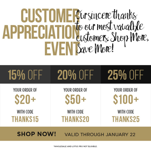 customer appreciation sale buy more save more lotus lashes