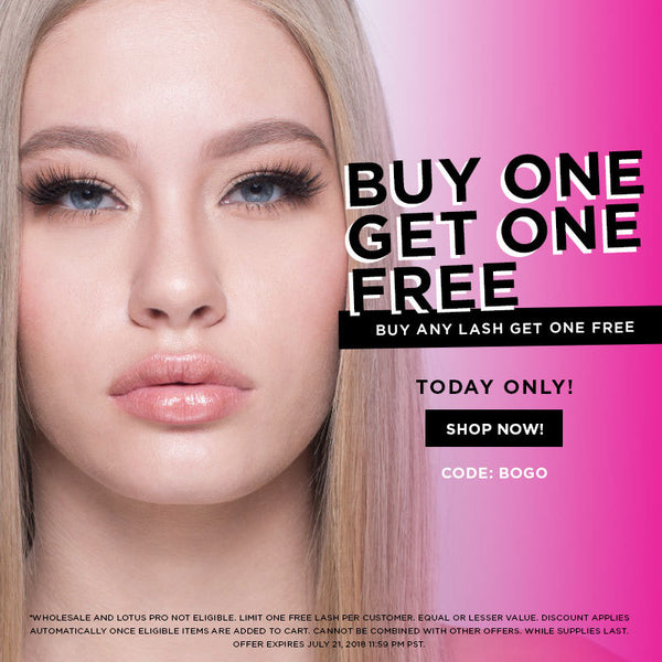 buy one get one free lotus lashes mink lashes sale promo