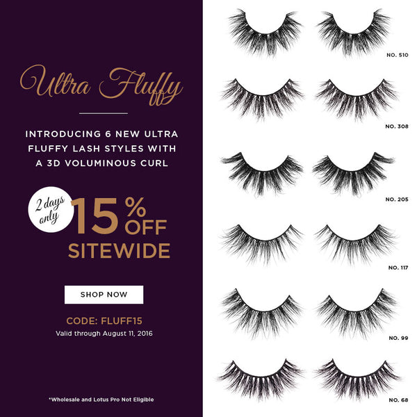 Lotus Lashes 6 new Ultra Fluffy 3D lashes promo code discount code