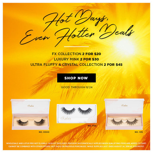 lotus lashes summer 2018 sale mink lashes
