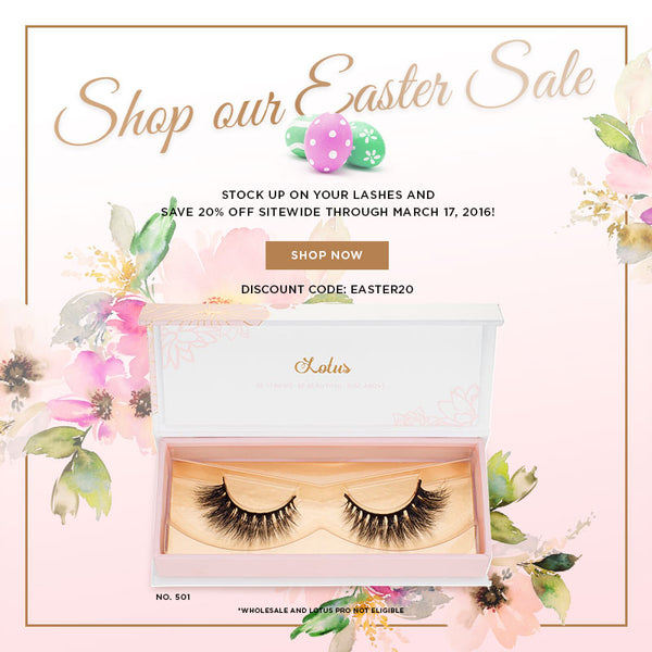 Easter sale Lotus Lashes discount code promo code mink lashes