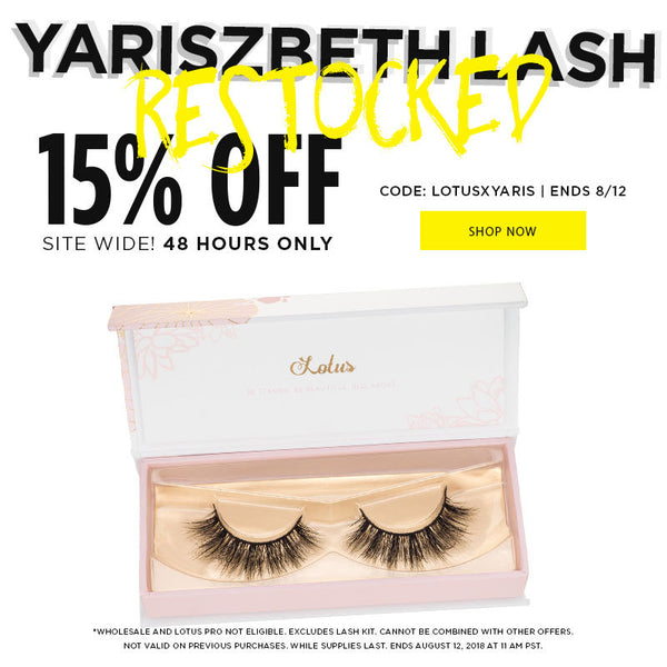 #YARISZBETHLASH RESTOCKED PLUS 15% OFF SITEWIDE PROMO LOTUS LASHES SALE