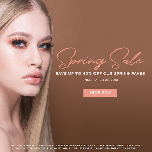 spring sale up to 40% off spring faves lotus lashes discount promo sale mink lashes