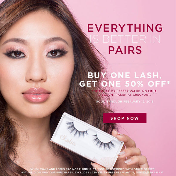 valentine's day sale bogo promo mink lashes lotus lashes
