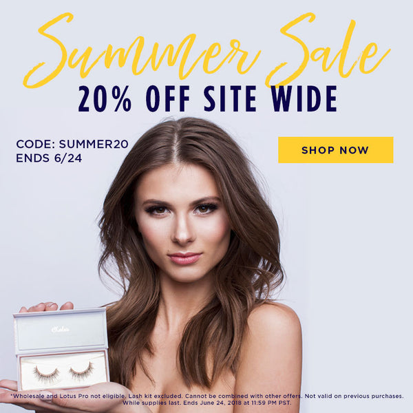 Lotus Lashes summer sale 2018 promo discount code mink lashes