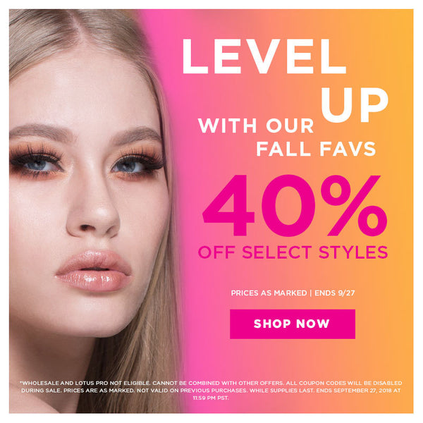 lotus lashes fall sale 40% off select styles mink lashes