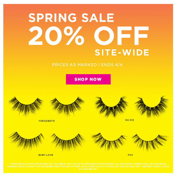 lotus lashes spring sale 2019 20% off site wide