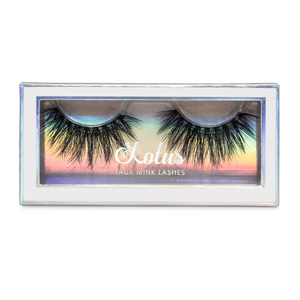 lady lux bombshell 25mm faux mink lashes false eyelashes lotus lashes package
