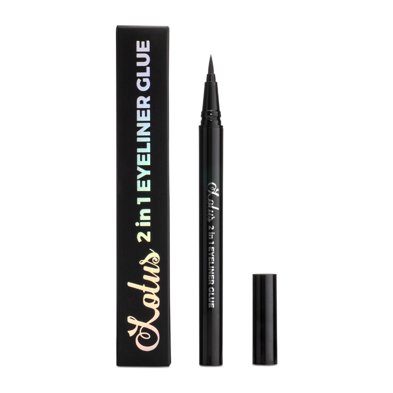 2 in 1 eyeliner glue black false eyelash adhesive lotus lashes mink lashes