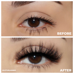 afterglow lowkey 3d mink lashes false eyelashes lotus lashes before after