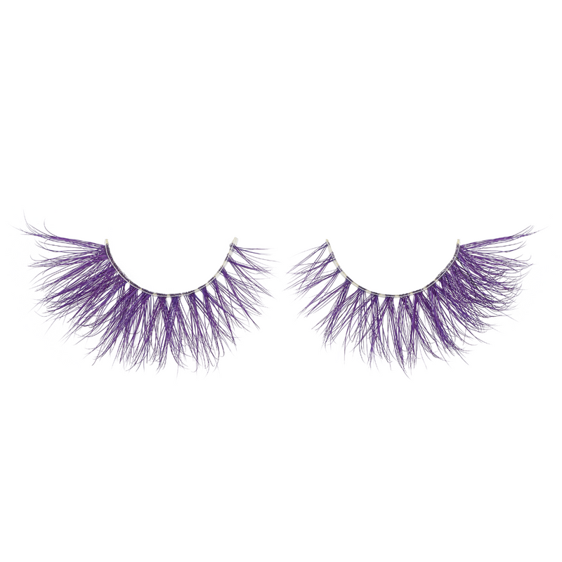 amethyst colored mink lashes afterglow purple lavender mink lashes false eyelashes lotus lashes