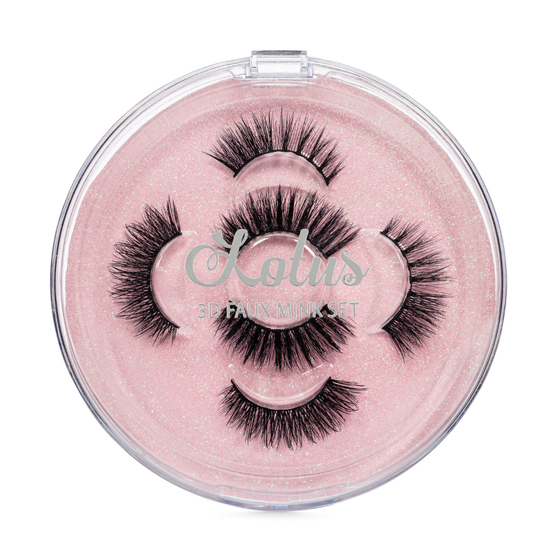 the shorty set faux mink lashes false eyelashes lotus lashes