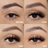 the shorty set faux mink lashes false eyelashes lotus lashes swatches