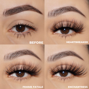 the vegas set 25 mm faux mink lashes false eyelashes lotus lashes before and after