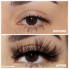hourglass bombshell 25mm faux mink lashes false eyelashes lotus lashes before and after