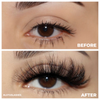 afterglow snatched 3d mink lashes false eyelashes lotus lashes before after