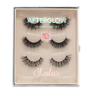 the bridal set afterglow 3d mink lashes false eyelashes lotus lashes