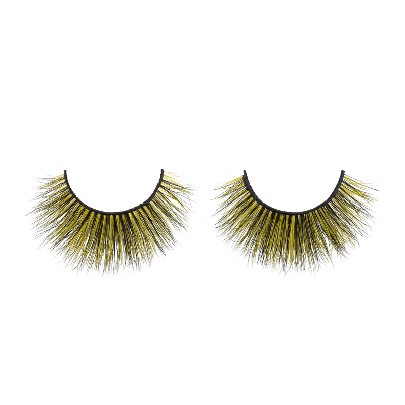 lucent colored mink lashes afterglow yellow mink lashes false eyelashes lotus lashes