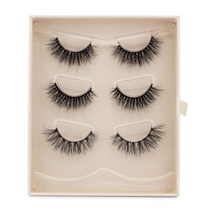 the bridal set afterglow 3d mink lashes false eyelashes lotus lashes package