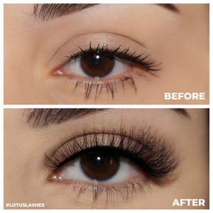 afterglow bliss mink lashes false eyelashes lotus lashes before and after