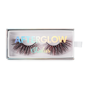 afterglow colored mink lashes all night red black false eyelashes lotus lashes in packaging