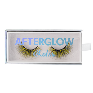 lucent colored mink lashes afterglow yellow mink lashes false eyelashes lotus lashes package