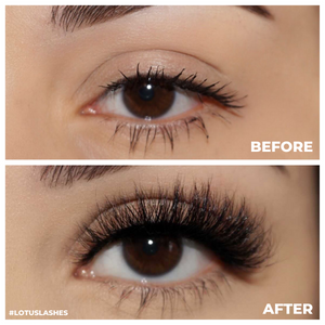 afterglow wifey mink lashes false eyelashes lotus lashes before and after