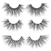 the vegas set 25 mm faux mink lashes false eyelashes lotus lashes our of packaging