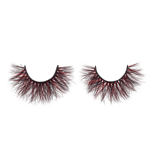 red dragon colored mink lashes afterglow red mink lashes false eyelashes lotus lashes