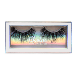 hourglass bombshell 25mm faux mink lashes false eyelashes lotus lashes package