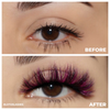 afterglow edm colored mink lashes purple mink eyelashes lotus lashes before after