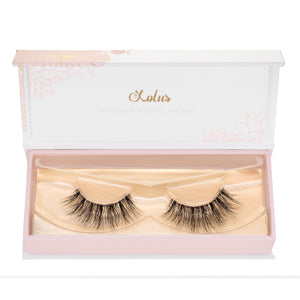 no. 99 3D mink lashes invisible clear band luxury lashes lotus lashes doll eyes ultra fluffy in packaging