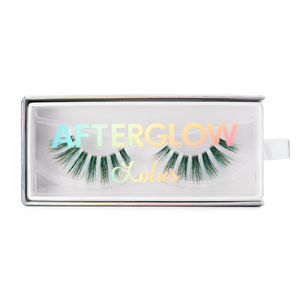afterglow colored mink lashes rich bish green light brown false eyelashes lotus lashes in packaging