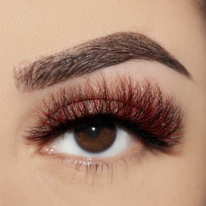 red dragon colored mink lashes afterglow red mink lashes false eyelashes lotus lashes swatch