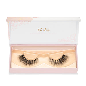 No. 501 LITE in packaging lotus lashes 3d bandless mink lashes