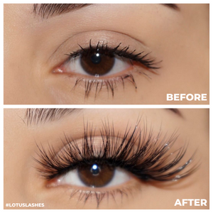 enchantress 25 mm faux mink lashes false eyelashes lotus lashes before and after