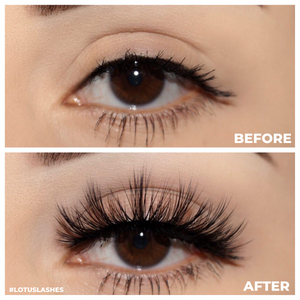 No. FX22 faux mink lashes false eyelashes lotus lashes before and after