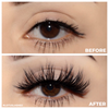 No. FX23 faux mink lashes false eyelashes lotus lashes before and after